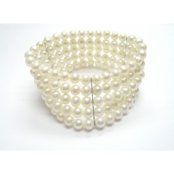 Freshwater Pearl 5 Row Stretchy Bracelet